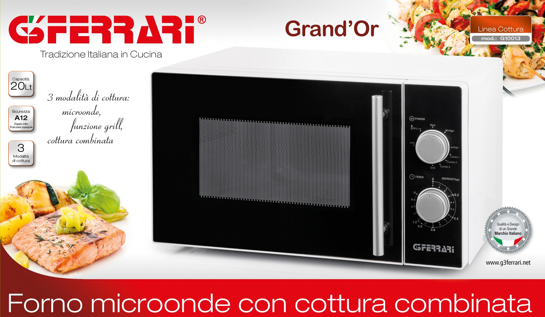 Grand 39 or forni microonde linea cottura g3ferrari - Forno combinato microonde e tradizionale ...